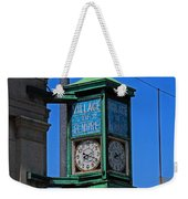 Village Of Elmore Clock-vertical Weekender Tote Bag