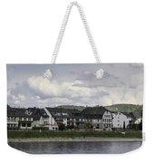 Village Of Spay Germany And Marksburg Castle Weekender Tote Bag