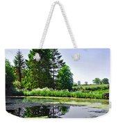 Village Pond At Tissington Weekender Tote Bag