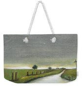 Village Road In The Twilight  Weekender Tote Bag