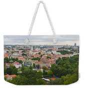 Vilnius Panorama From The Hill Of Three Crosses Weekender Tote Bag
