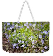 Vinca Violet Purple Clump Weekender Tote Bag