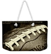 Vince Lombardi Quote Weekender Tote Bag