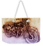 Vincent Black Shadow 2 - Standard Motorcycle - 1948 - Motorcycle Poster - Automotive Art Weekender Tote Bag