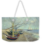 Vincent Van Gogh  Fishing Boats On The Beach At Les Saintes Maries De La Mer Weekender Tote Bag