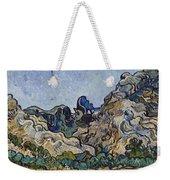 Vincent Van Gogh  Mountains At Saint Remy Weekender Tote Bag