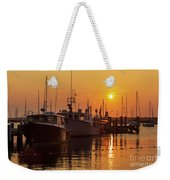 Vineyard Haven Harbor Sunrise II Weekender Tote Bag