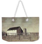 Vineyard In Winter Weekender Tote Bag