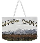 Vineyard Under Snow Weekender Tote Bag