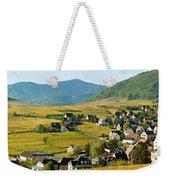 Vineyards In Autumn In The Morning Weekender Tote Bag