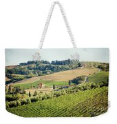Vineyards With Stone House, Tuscany, Italy Weekender Tote Bag