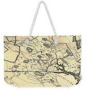 Vintage 1692 Map Of Salem Massachusetts - 1866 Weekender Tote Bag