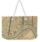 Vintage 1840s Map Of New Orleans Weekender Tote Bag