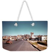 Vintage 1950s View Of Congress Avenue Looking North From South Congress To The Capitol Weekender Tote Bag