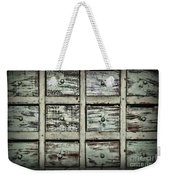 Vintage Apothecary Drawers Weekender Tote Bag