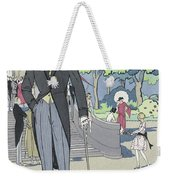 Vintage Art Deco Fashion Print Depicting A Man In Morning Dress Weekender Tote Bag