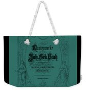 Vintage Bach Piano Book Cover Weekender Tote Bag