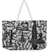 Vintage Barrel Taps And Cork Screw Black And White Weekender Tote Bag