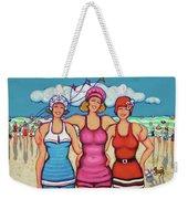 Vintage Beach Scene - Holiday At The Seashore Weekender Tote Bag