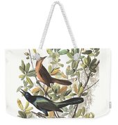 Vintage Boat-tailed Grackles Audubon Weekender Tote Bag