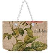 Vintage Burlap Floral 2 Weekender Tote Bag