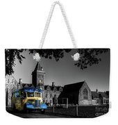 Vintage Bus At Taunton School Weekender Tote Bag