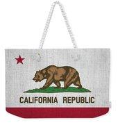 Vintage California Flag Weekender Tote Bag
