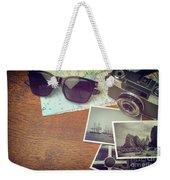 Vintage Camera And Map Weekender Tote Bag