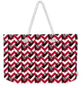 Vintage Camera Chevron Weekender Tote Bag