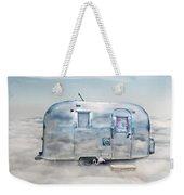 Vintage Camping Trailer In The Clouds Weekender Tote Bag