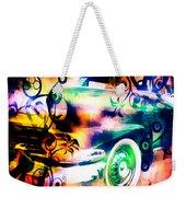 Vintage Car 1 Neons Edition Weekender Tote Bag
