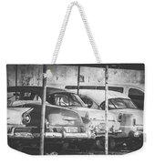 Vintage Cars At Night Bw Weekender Tote Bag