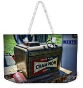 Vintage Champion Spark Plug Cleaner Weekender Tote Bag