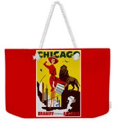 Vintage Chicago Travel Poster Weekender Tote Bag