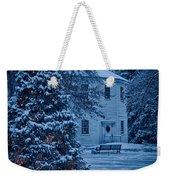 Vintage Christmas Church In Vermont Weekender Tote Bag