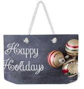 Vintage Christmas Ornaments With Copy Space Weekender Tote Bag