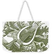 vintage Christmas poster musical instruments  Weekender Tote Bag