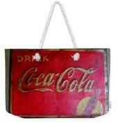 Vintage Coca-cola Sign Weekender Tote Bag
