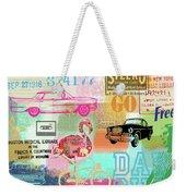 Vintage Collage Flamingo Weekender Tote Bag