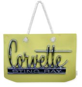 Vintage Corvette Sting Ray Emblem Weekender Tote Bag