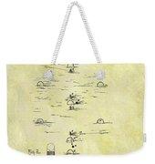 Vintage Croquet Patent Weekender Tote Bag