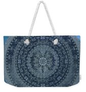 Vintage Denim Mandala Weekender Tote Bag