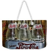 Vintage Double Dot Metal Pepsi Carrier. Weekender Tote Bag