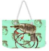 Vintage Drill Motor Green Trigger Pattern Weekender Tote Bag