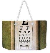 Vintage Eye Chart Weekender Tote Bag