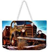 Vintage Farm Truck Weekender Tote Bag