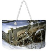 Vintage Farm Wagon Weekender Tote Bag