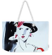 Vintage Fashion  Weekender Tote Bag