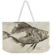 Vintage Fish Print Weekender Tote Bag