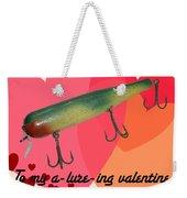 Vintage Fishing Lure Valentine Card Weekender Tote Bag